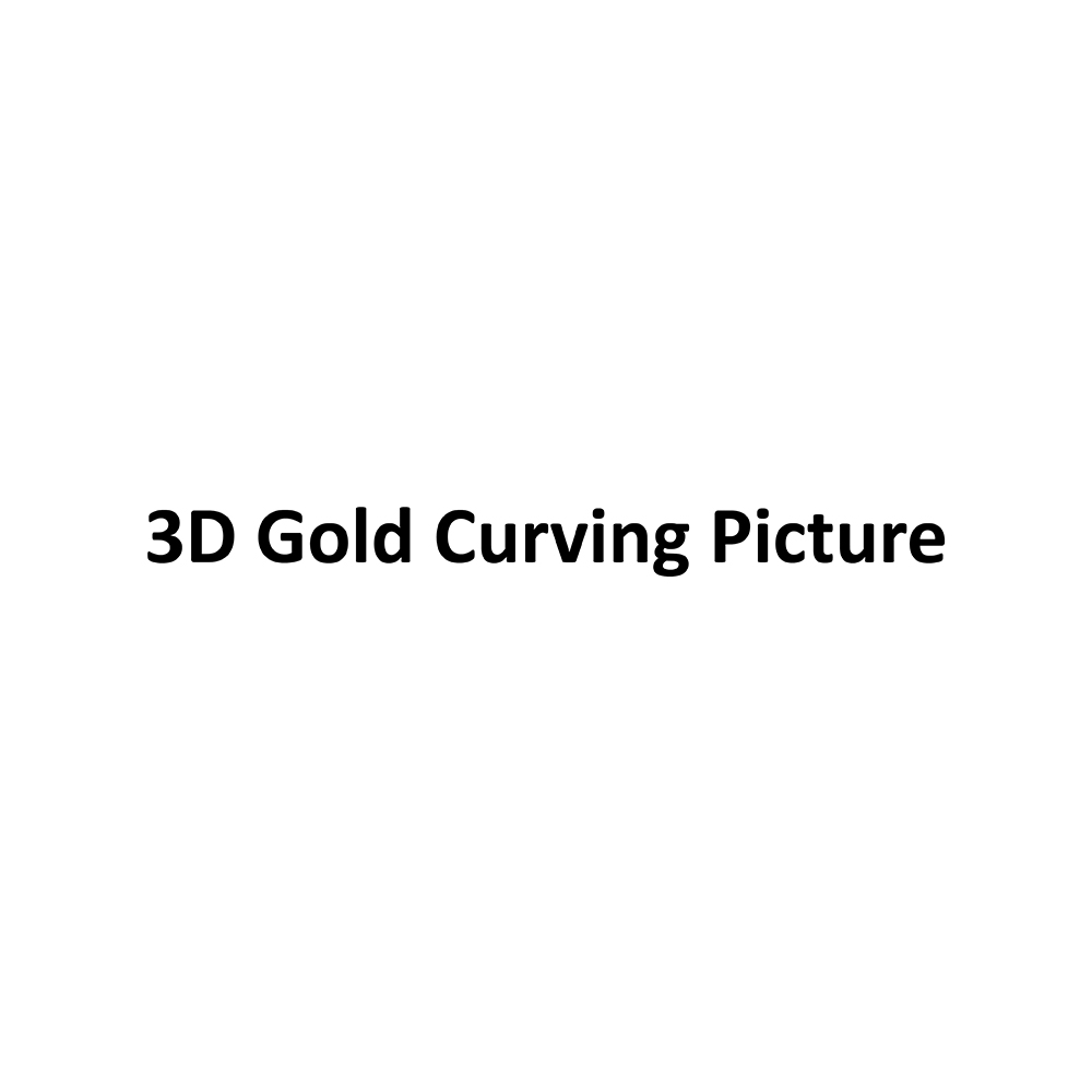 3D Gold Curving Picture