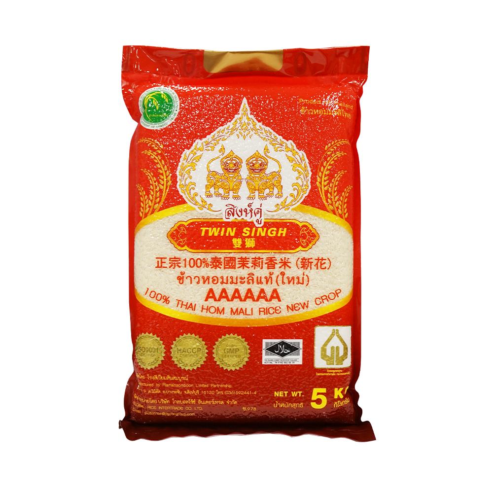 阿布泰雙獅 泰國6A級100% 茉莉香米 5kg