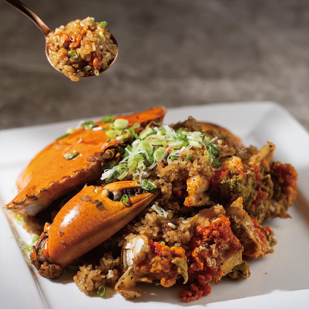 Stir-fried Crab with Glutinous Rice
