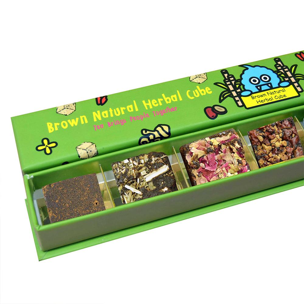 Brown Natural Herbal Cube