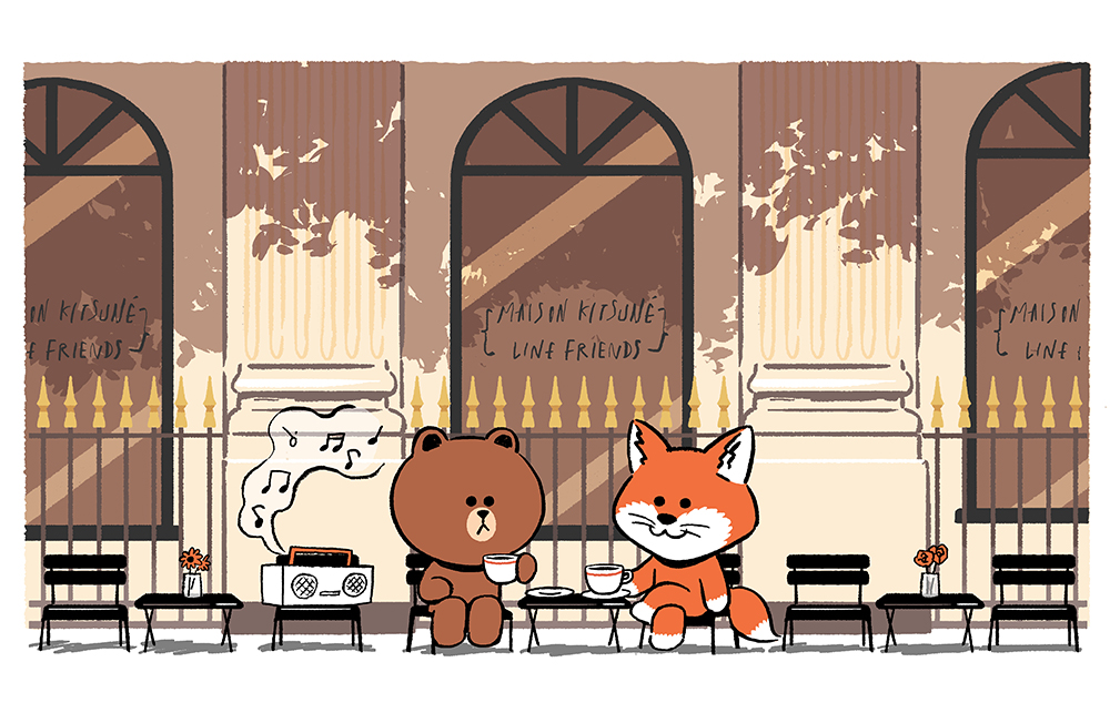 Maison Kitsuné x LINE FRIENDS 首次聯乘系列