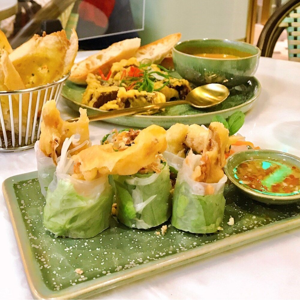 Soft Shell Crab & Green Papaya Rice Paper Rolls