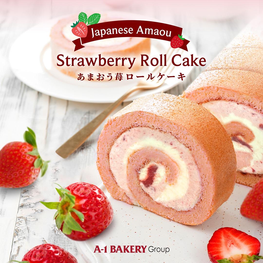 Japanese Amaou Strawberry Roll Cake
