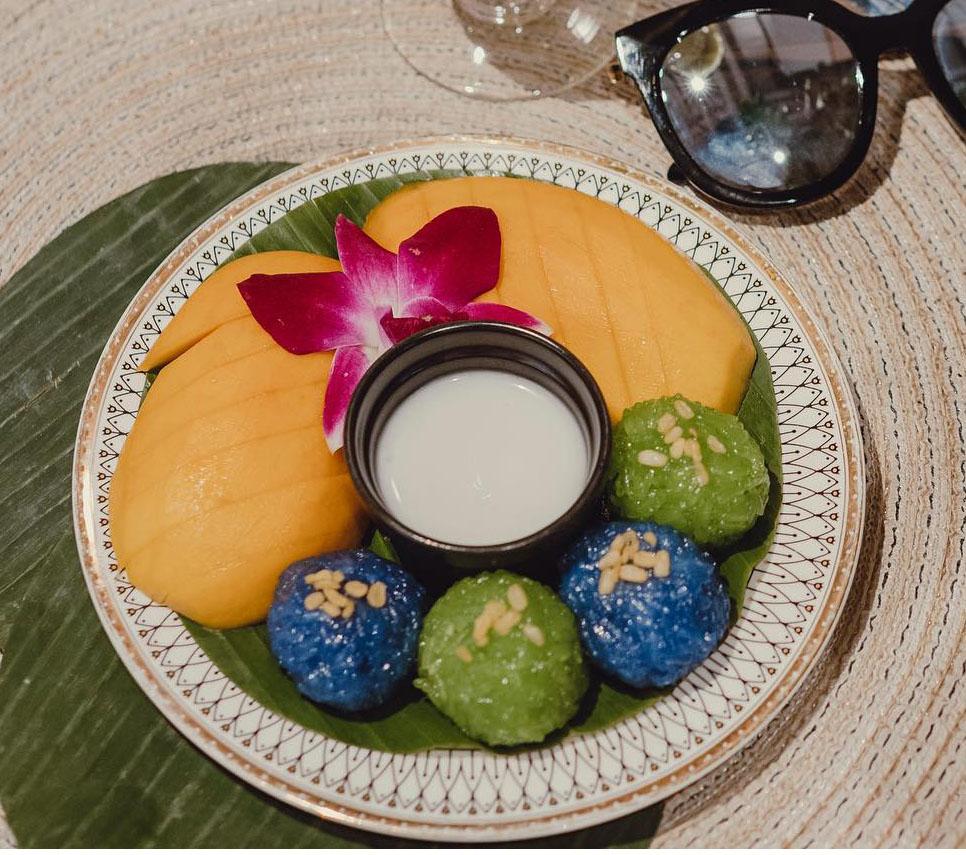 Butterfly Pea & Pandan Sticky Rice with Mango