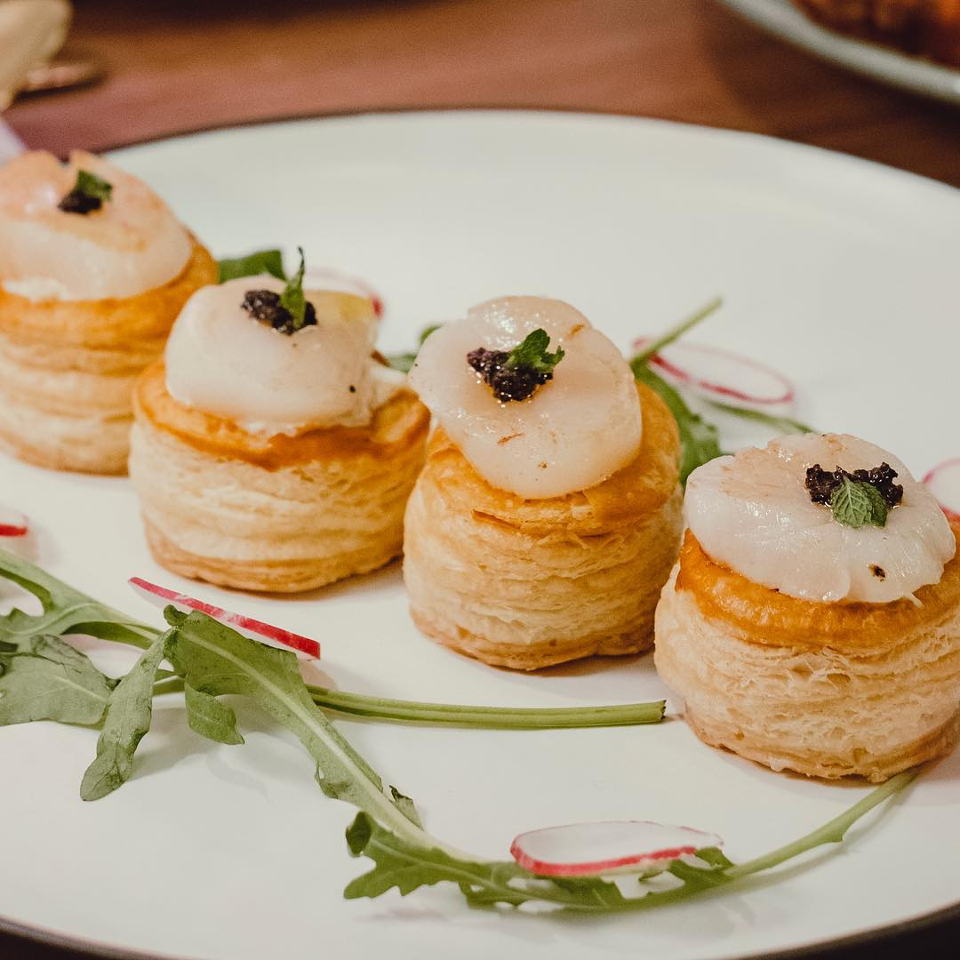 Pan-seared Scallop & Lime Crab Meat Vol-Au-Vent