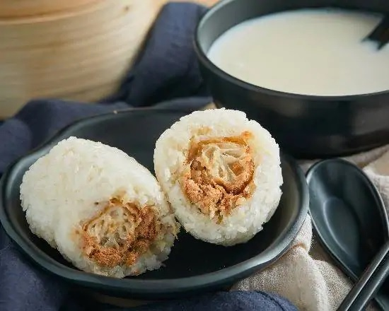 Shanghai Style Steamed Savoury Sticky Rice with Soymilk