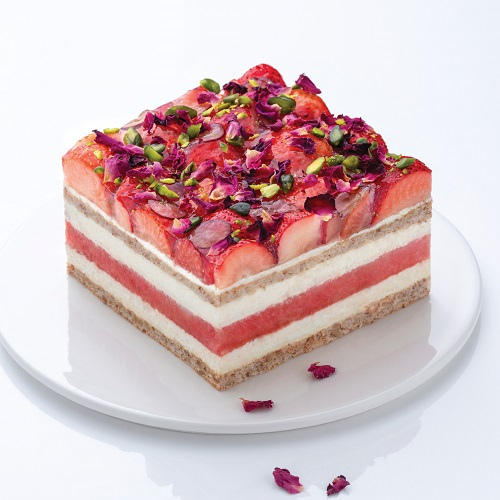 Signature Watermelon Strawberry Layer Cake
