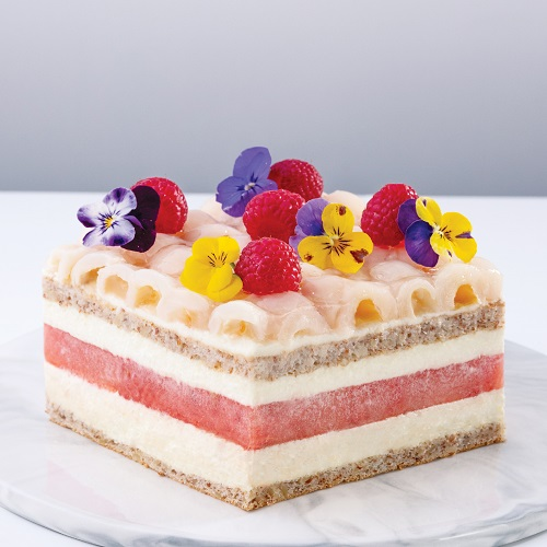 Watermelon Lychee Layer Cake