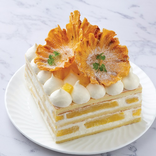 Pineapple Compote Layer Cheesecake