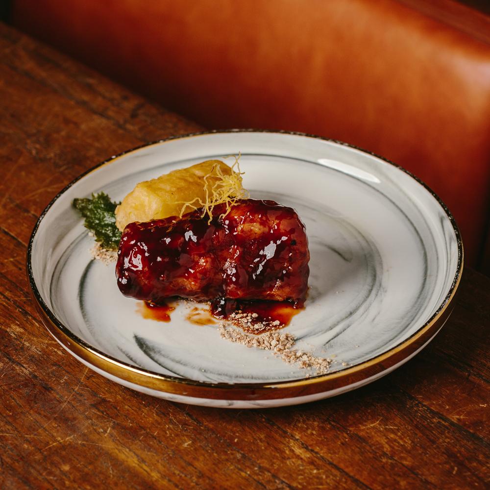 Braised Spare Ribs with Tangerine peel in Black Vinegar