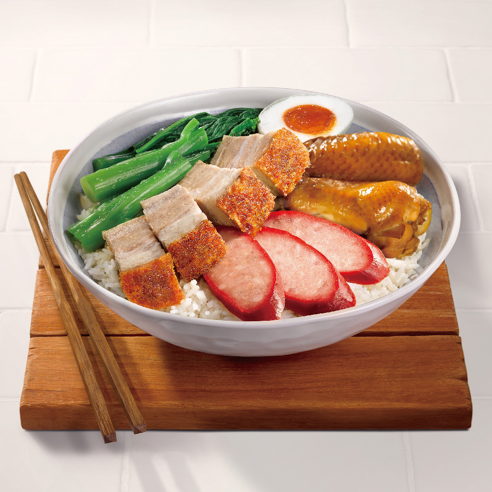 Crispy Roasted Pork Belly Combo with Rice