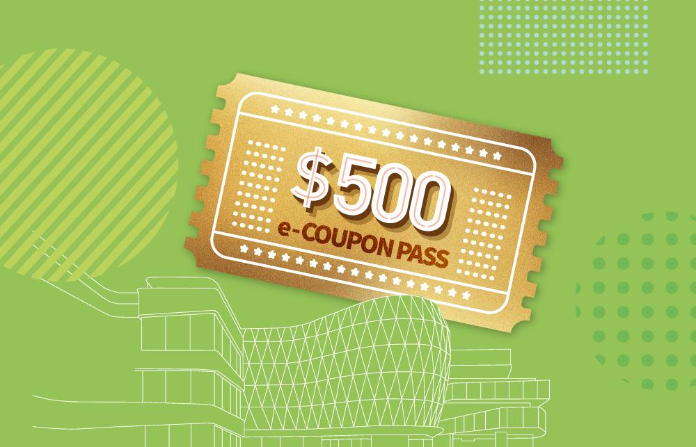 Peak Galleria HK$500 e-Coupon...
